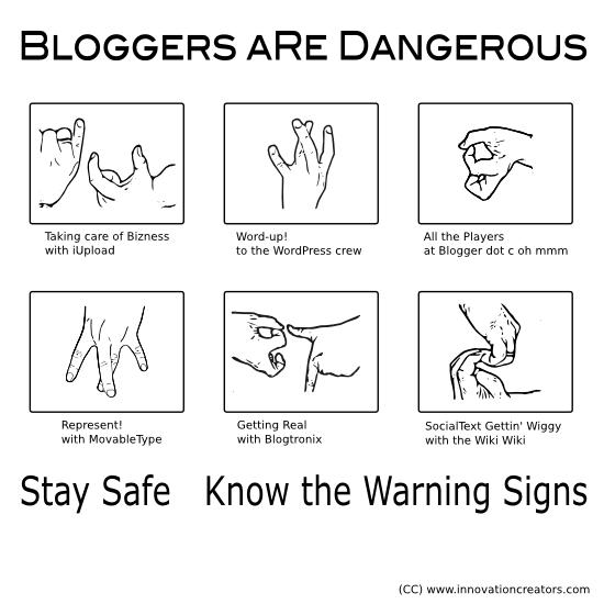 Blogger Gang Hand Signs - Small