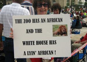 Racist Obama Sign 1